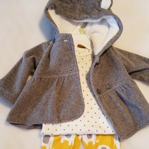 New Carter's Three Piece Outfit- 3 Months